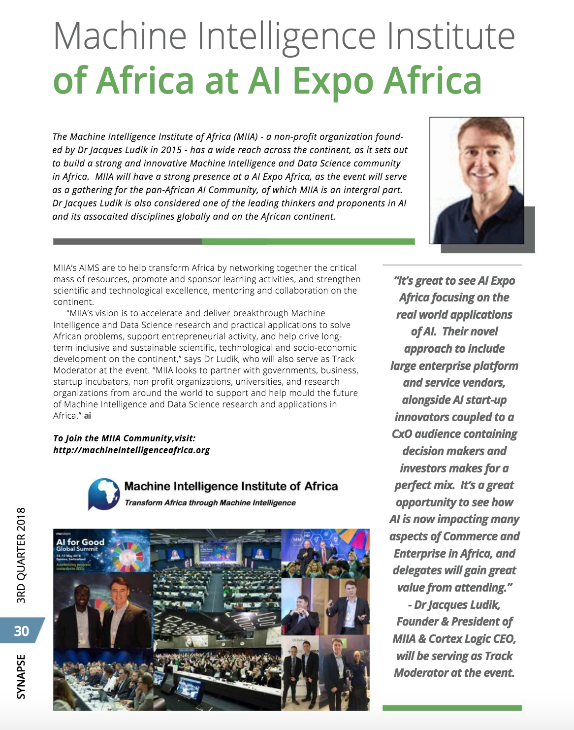 Machine Intelligence Institute of Africa at AI Africa Expo